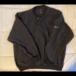 Black Nike windbreaker puffer jacket